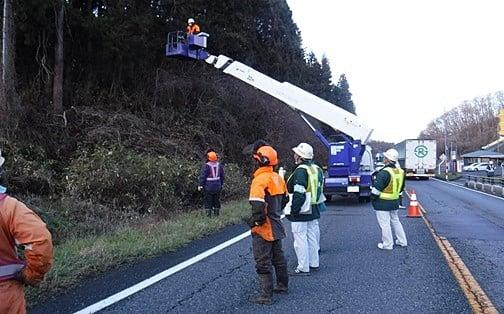 維持補修工事 一関支障木伐採 作業状況確認