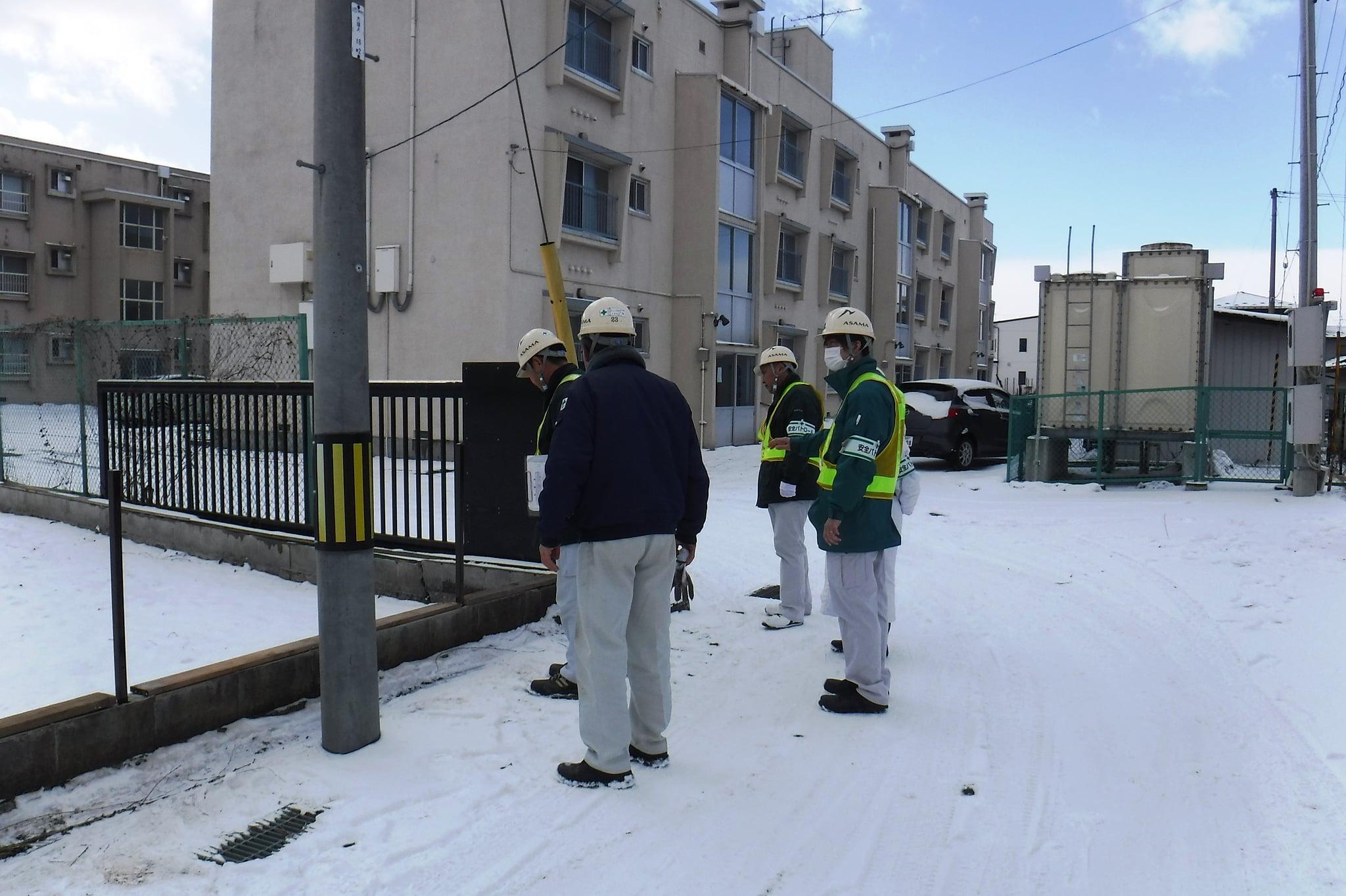 奥州警察署大鐘宿舎ブロック塀修繕工事 作業状況確認