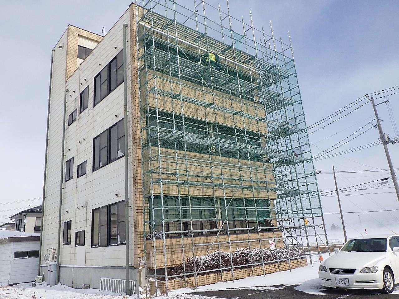 水信ビル修繕工事 作業状況確認