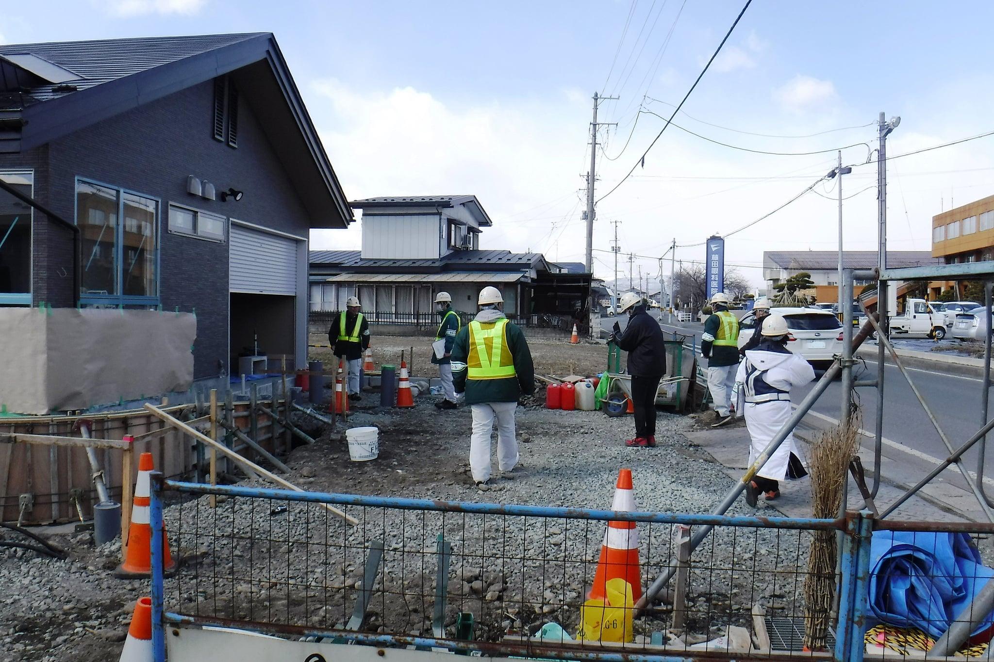 江釣子駐在所新築工事 作業状況確認