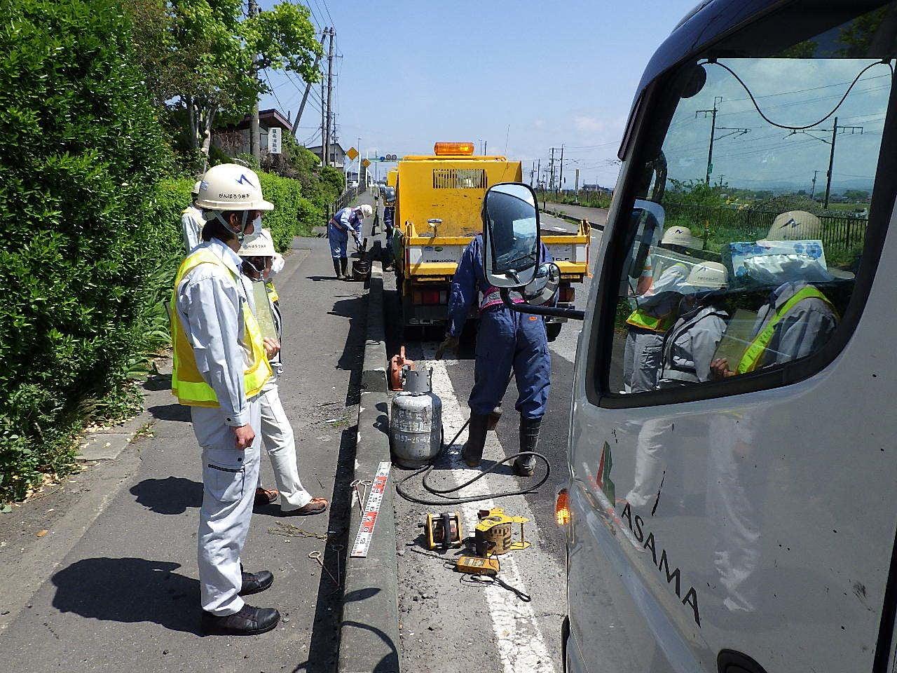 維持前沢路面補修4 作業状況確認