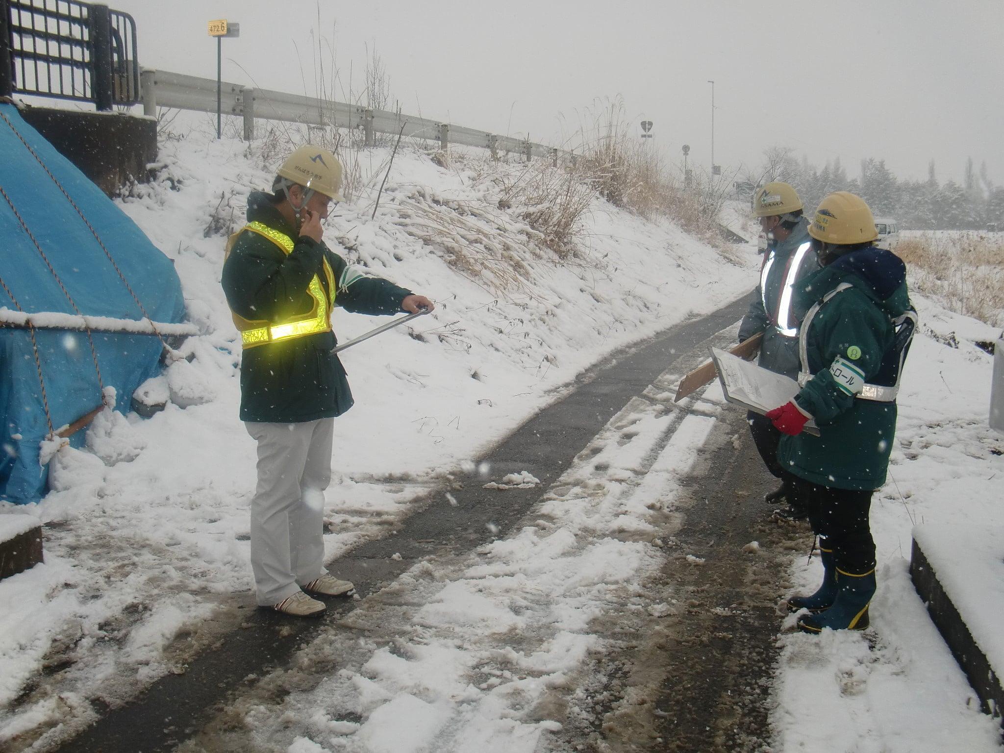 北堰下部工補修 作業状況2
